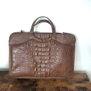 1970s Vintage Brown Leather Briefcase